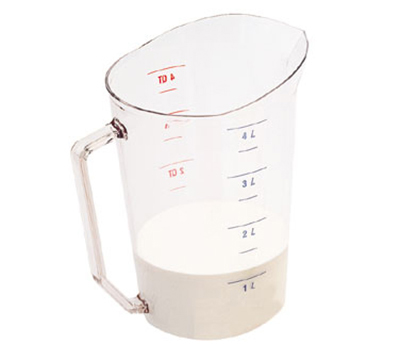 Cambro 400MCCW135 4-qt Camwear Measuring Cup - Clear