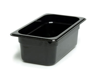 "Cambro 44CW135 Camwear Food Pan - 1/4 Size, 4""D, Clear"