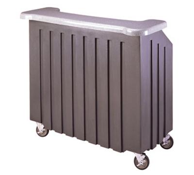 "Cambro BAR540DS672 54"" Cambar Portable Bar - 100-lb Ice Sink, Speed Rail, Granite Sand/Cocoa"