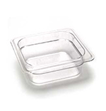 "Cambro 62CW135 Camwear Food Pan - 1/6 Size, 2-1/2""D, Clear"