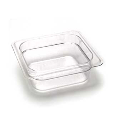 "Cambro 62CW110 Camwear Food Pan - 1/6 Size, 2-1/2""D, Black"