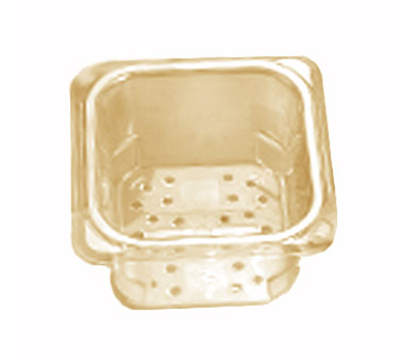 "Cambro 35CLRHP150 H-Pan Colander - 1/3 Size, 5""D, Amber"