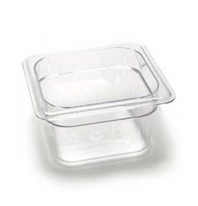 "Cambro 64CW110 Camwear Food Pan - 1/6 Size, 4""D, Black"