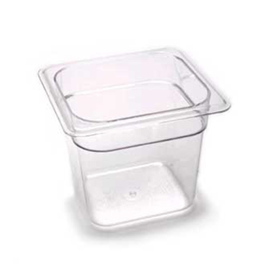 "Cambro 66CW110 Camwear Food Pan - 1/6 Size, 6""D, Black"