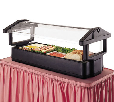 Cambro 6FBRTT519 Tabletop Salad Bar - (5) Pan Capacity, Ice Pan, Sneeze Guard, Green