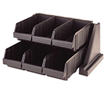 "Cambro 6RS6110 Organizer Rack - (6)Bins, 20-1/8x17-1/4x9-1/4"" Black"