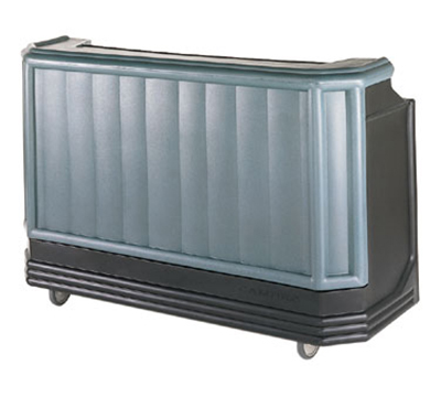 "Cambro BAR730DX421 72-3/4"" Portable Bar - Cold Plate, 80-lb Ice Sink, Black/Granite Green"