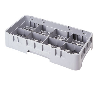 Cambro 8HC258151 Camrack Cup Rack - Half Size, 8-Compartments, Soft Gray