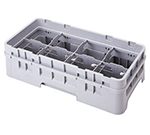Cambro 8HE1151 Full Drop Camrack Extender - Half Size, 8-Compartment, Soft Gray