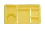 "Cambro 915CP145 Rectangular Camwear Tray - 6-Compartments, 9x15"" Yellow"