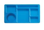"Cambro 915CW168 Rectangular Camwear Tray - 6-Compartments, 9x15"" Blue"
