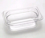 "Cambro 92CW135 Camwear Food Pan - 1/9 Size, 2-1/2""D Clear"