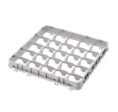 Cambro 25E2151 Half Drop Camrack Extender - Full Size, 25-Compartment, Soft Gray