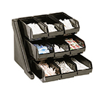 "Cambro 9RS9110 Organizer Rack - 9-Bins, 20-1/8x21-3/8x14-1/4"" Black"