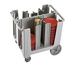 "Cambro ADCS480 Adjustable Dish Cart - 6-Towers, 4-1/2-13"" Dish Size, Speckled Gray"