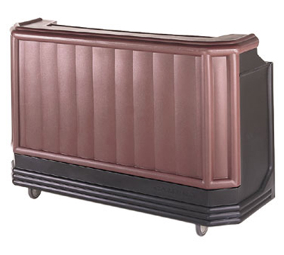 "Cambro BAR650PMT189 67-1/2"" Portable Bar - Post-Mix Drink System, CO2, Brown/Mahogany 110v"