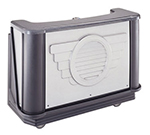 "Cambro BAR650DS667 67-1/2"" Portable Bar - 80-lb Ice Sink, Speed Rail, Manhattan"