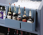 "Cambro BAR54SR110 Partitioned Speed Rail - 5-Bottle, 19-1/2x4-5/16x12-5/8"" Black"
