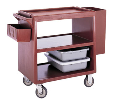 "Cambro BC230157 Service Cart - (3)20x27"" Shelves, 500-lb Capacity, Coffee Beige"