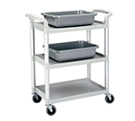 "Cambro BC331KD110 Service Cart - (3)15x24"" Shelves, (4)Swivel Castors, Black"