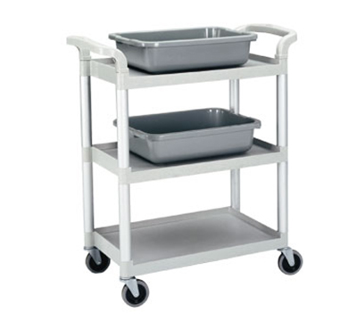 "Cambro BC331KD480 Service Cart - (3)15x24"" Shelves, (4)Swivel Castors, Speckled Gray"