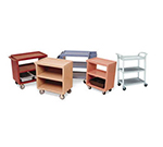 Cambro BC340KD480 3-Level Polymer Utility Cart w/ 400-lb Capacity, Raised Ledges