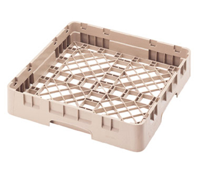 "Cambro BR258184 Camrack Base Rack - Full Size, 1-Compartment, 4""H, Beige"