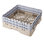 "Cambro BR578151 Camrack Base Rack - (2)Extenders, 1-Compartment, 4""H, Soft Gray"