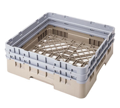 "Cambro BR578184 Camrack Base Rack - (2)Extenders, 1-Compartment, 4""H, Beige"