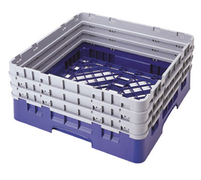 "Cambro BR712186 Camrack Base Rack - (3)Extenders, 1-Compartment, 4""H, Navy Blue"