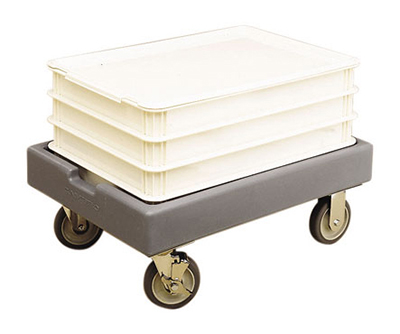 Cambro CD1826PDB157 Camdolly® for Pizza Dough Boxes w/ 300-lb Capacity, Coffee Beige