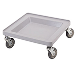"Cambro CDR2020151 Platform Camdolly with Handle - 21-3/8x21-3/8x8"" Soft Gray"