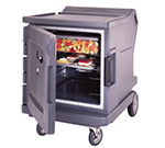 Cambro CMBHC1826LF192 Camtherm Hot/Cold Cart - Thermometer, Granite Green 120v
