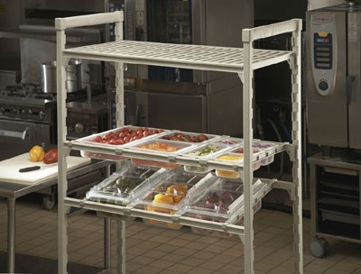 Cambro CSDBS480 Camshelving Straight Divider Bar - Speckled Gray