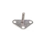 "Cambro CSEQ3 Camshelving Seismic Foot - 4x3-1/4x2-5/16"" Silver"