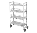 "Cambro CSFE18480 Camshelving Fence System - Fits 18"" Post, Double Level End, Speckled Gray"