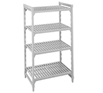 "Cambro CSU54426480 Camshelving Starter Unit - 24x42x64"" (5)Shelves, Speckled Gray"