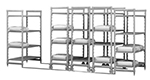 "Cambro CSUHD44427S480 Mobile Shelving Starter Unit - (4)Solid Shelves, 24x42x75"" Speckled Gray"