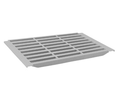 "Cambro CS1448VK480 Vented Shelf Plate Kit - 2-Traverses & Shelf Set, 14x48"" Speckled Gray"