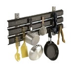 "Cambro CSWS48EK110 48"" Shelf Extender Kit - Utensil Hanger, Black"
