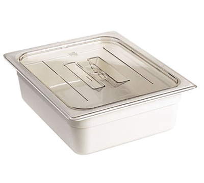 Cambro 60CWCH135 Camwear Food Pan Cover - 1/6 Size, Flat with Handle, Clear