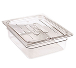 Cambro 30CWCHN135 Camwear Food Pan Cover - 1/3 Size, Notched with Handle, Clear