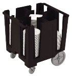 "Cambro DCS950110 Versa Dish Caddy - 5 Column, 9-1/2"" Round/8"" Square, Black"