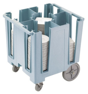 "Cambro DCS950401 Versa Dish Caddy - 5 Column, 9-1/2"" Round/8"" Square, Slate Blue"