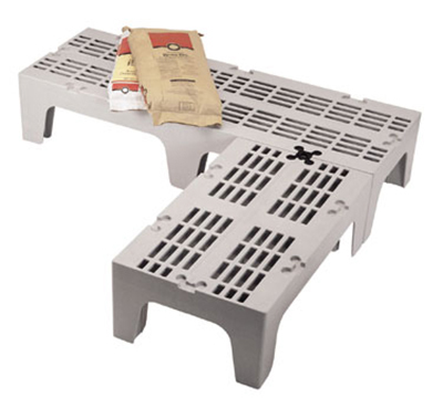 "Cambro DRS480480 S-Series Dunnage Rack - Slotted Top, 21x48x12"" Speckled Gray"