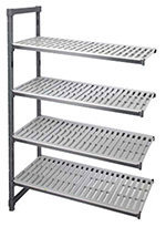 "Cambro EA246064 580 Camshelving Elements Add-On Unit - 24x60x64"" Brushed Graphite"