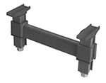 "Cambro EDS14 580 Camshelving Elements Dunnage Support - 14x6-1/2"" Brushed Graphite"