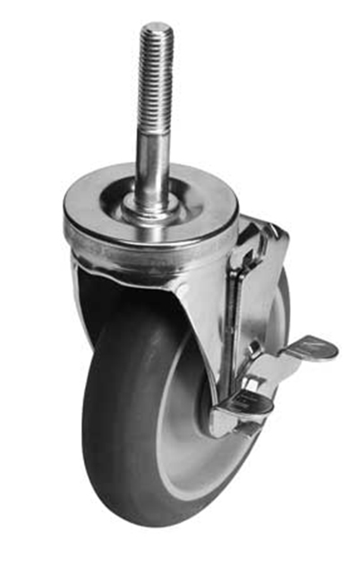 "Cambro EMCWB000 5"" Premium Swivel Caster w/ Brake for Camshelving® Elements"