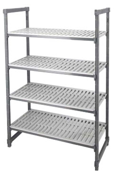 "Cambro ESU244264 580 Camshelving Elements Starter Unit - 24x42x64"" Brushed Graphite"