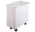 Cambro IB36 34-gal Mobile Ingredient Bin - Sliding Cover, White